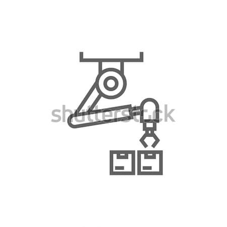 Robotic packaging line icon. Stock photo © RAStudio