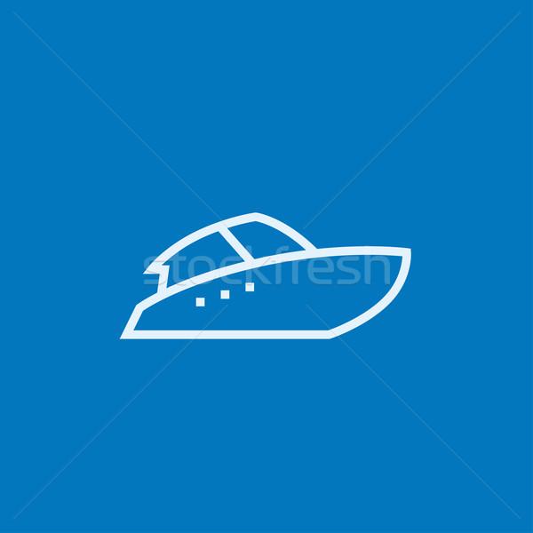 Speedboat line icon. Stock photo © RAStudio