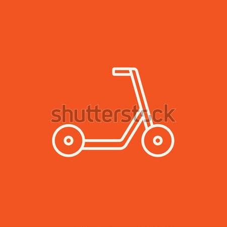Kick scooter line icon. Stock photo © RAStudio