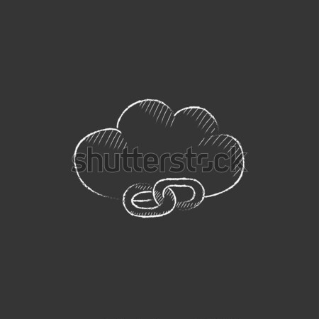 Liver. Drawn in chalk icon. Stock photo © RAStudio