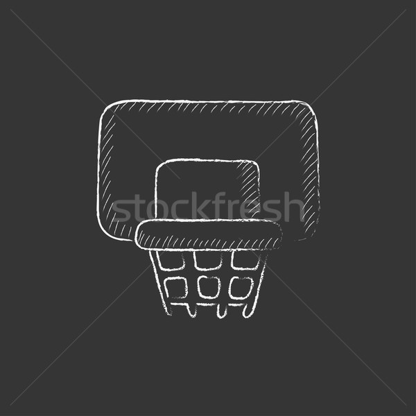 Basketball hoop. Drawn in chalk icon. Stock photo © RAStudio