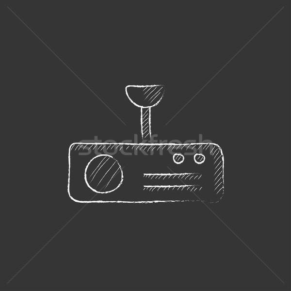 Dijital projektör tebeşir ikon Stok fotoğraf © RAStudio