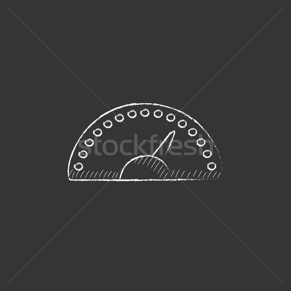 Speedometer. Drawn in chalk icon. Stock photo © RAStudio