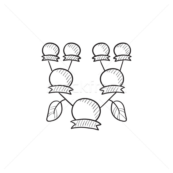 Family tree sketch icon. Stock photo © RAStudio