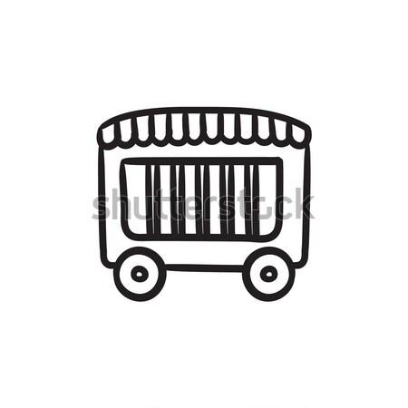 サーカス ワゴン スケッチ アイコン ベクトル 孤立した ストックフォト © RAStudio