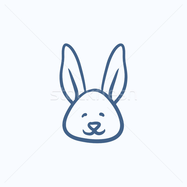 Easter bunny sketch icon. Stock photo © RAStudio