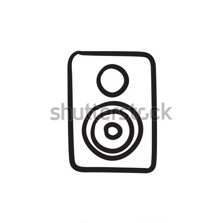 Mp3-speler schets icon vector geïsoleerd Stockfoto © RAStudio