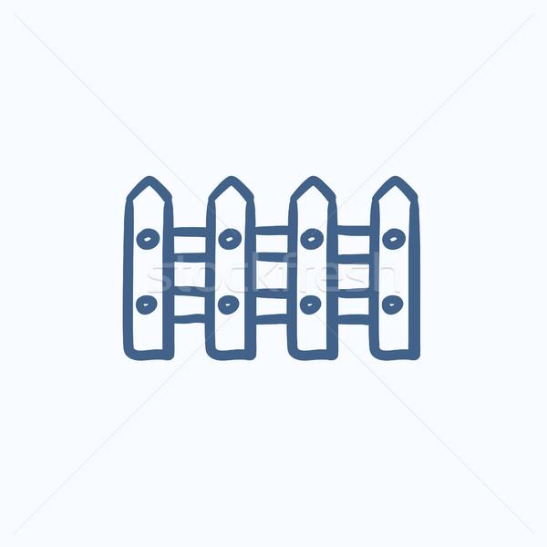Cerca esboço ícone vetor isolado Foto stock © RAStudio