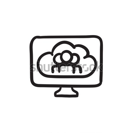 Cloud computing sketch icon. Stock photo © RAStudio
