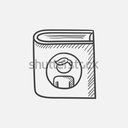 Család fényképalbum rajz ikon vektor izolált Stock fotó © RAStudio