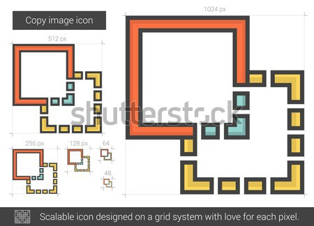 Copy image line icon. Stock photo © RAStudio