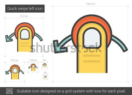 Quick swipe left line icon. Stock photo © RAStudio
