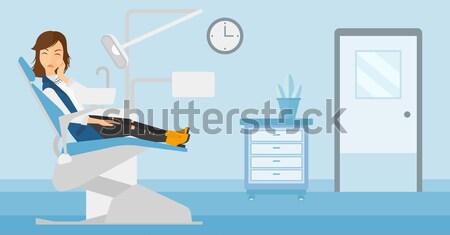 врач прикасаться живот мужчины пациент азиатских Сток-фото © RAStudio