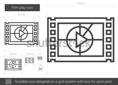 Film play line icon. Stock photo © RAStudio