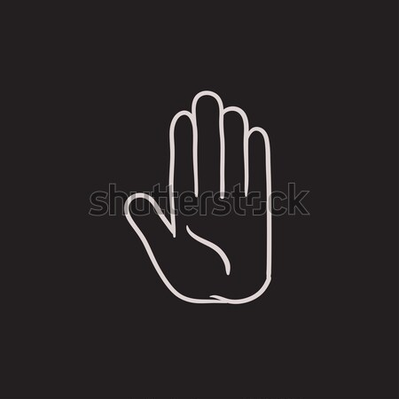Medical glove sketch icon. Stock photo © RAStudio