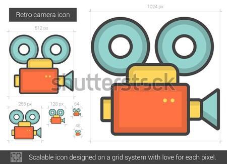 Retro camera line icon. Stock photo © RAStudio