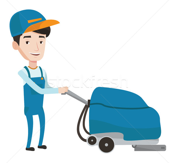 Supermarket worker of cleaning services. Stock photo © RAStudio
