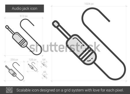 Audio jack line icon. Stock photo © RAStudio