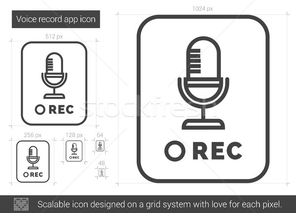 Voice record app line icon. Stock photo © RAStudio