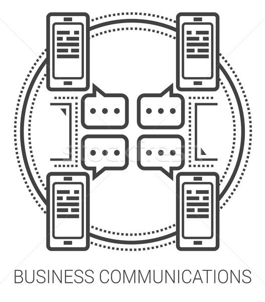 Business communications line icons. Stock photo © RAStudio