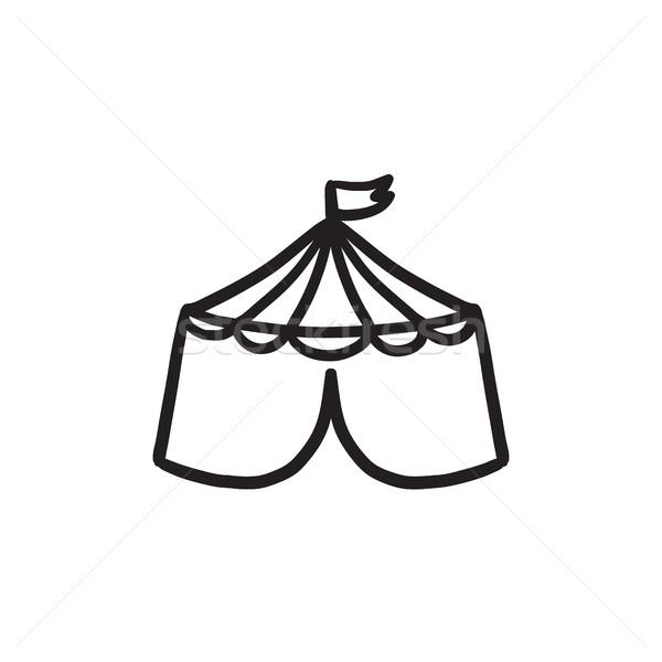 Circus tent sketch icon. Stock photo © RAStudio