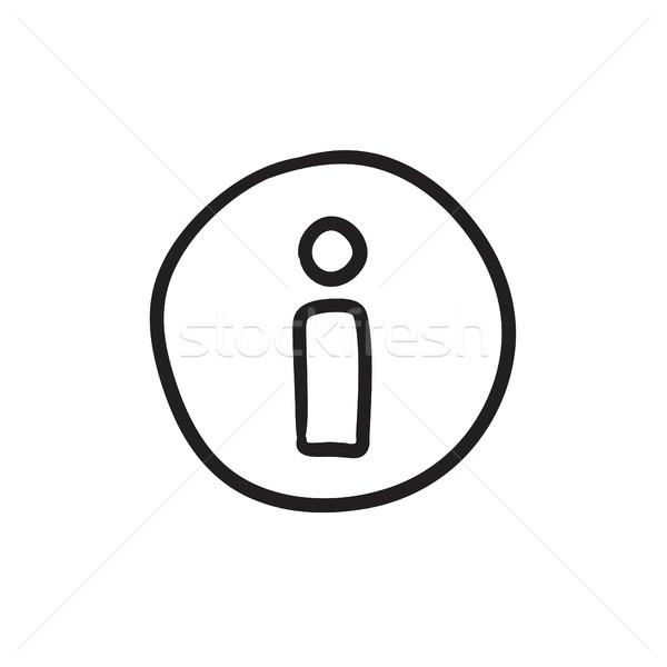 Információ jel rajz ikon vektor izolált kézzel rajzolt Stock fotó © RAStudio