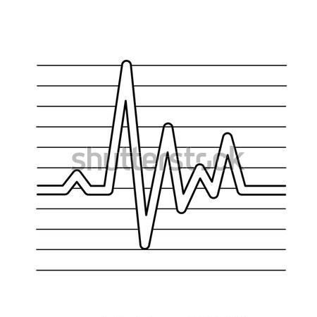 Cardiograma línea icono vector aislado blanco Foto stock © RAStudio