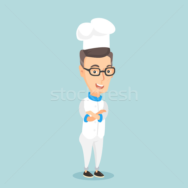 Maschio capo cuoco braccia incrociate Foto d'archivio © RAStudio