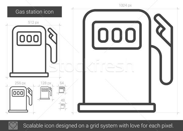 Station d'essence ligne icône vecteur isolé blanche Photo stock © RAStudio