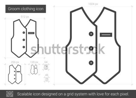Noivo roupa linha ícone vetor isolado Foto stock © RAStudio