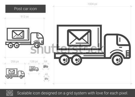 Post voiture ligne icône vecteur isolé Photo stock © RAStudio