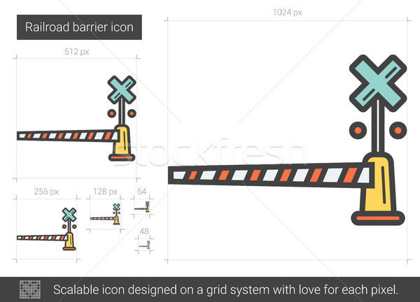 Railroad barrier line icon. Stock photo © RAStudio
