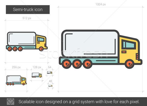 Semi-truck line icon. Stock photo © RAStudio