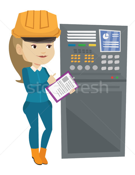 Engineer standing near control panel. Stock photo © RAStudio