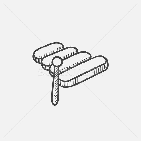 木琴 スケッチ アイコン ウェブ 携帯 インフォグラフィック ストックフォト © RAStudio