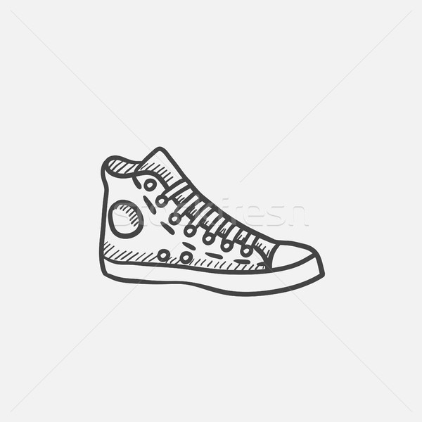 Gumshoes sketch icon. Stock photo © RAStudio