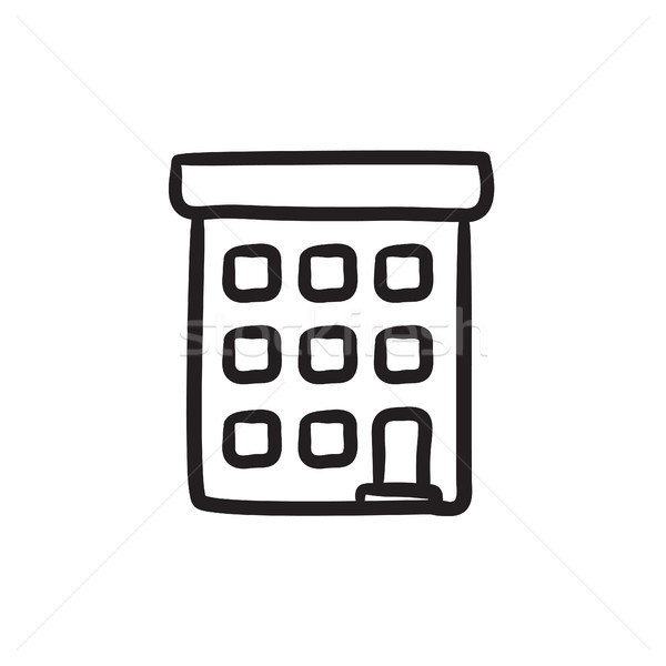 Condominium building sketch icon. Stock photo © RAStudio