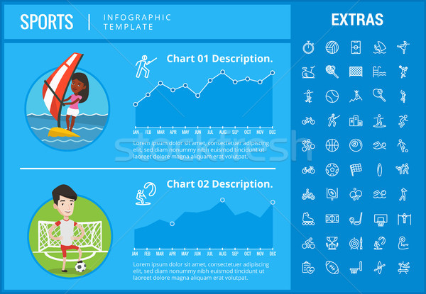 Stock photo: Sports infographic template, elements and icons.