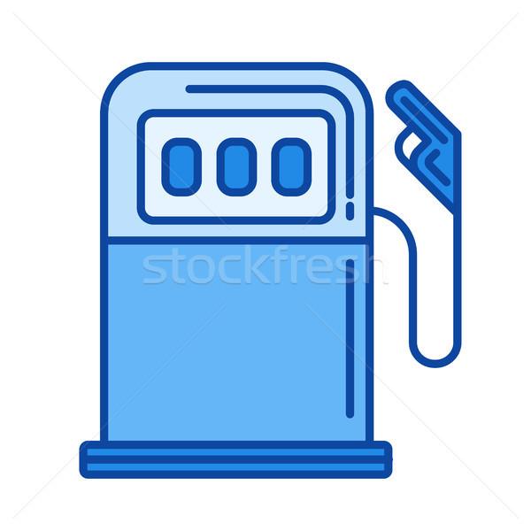 Stacji benzynowej line ikona wektora odizolowany biały Zdjęcia stock © RAStudio