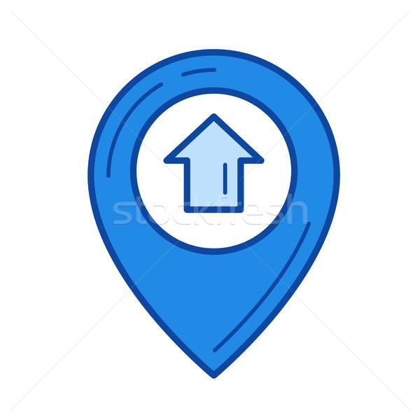 Zdjęcia stock: Pokaż · domu · wewnątrz · line · ikona · odizolowany