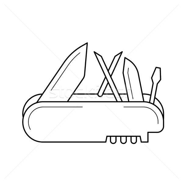 Multi tool line icon. Stock photo © RAStudio