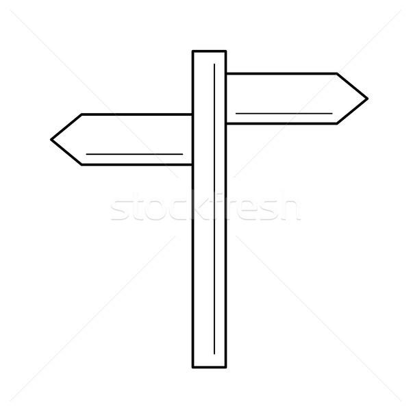 Tabelasını hat ikon yön vektör yalıtılmış Stok fotoğraf © RAStudio