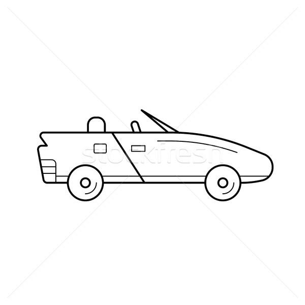 Cabriolé línea icono vector aislado blanco Foto stock © RAStudio