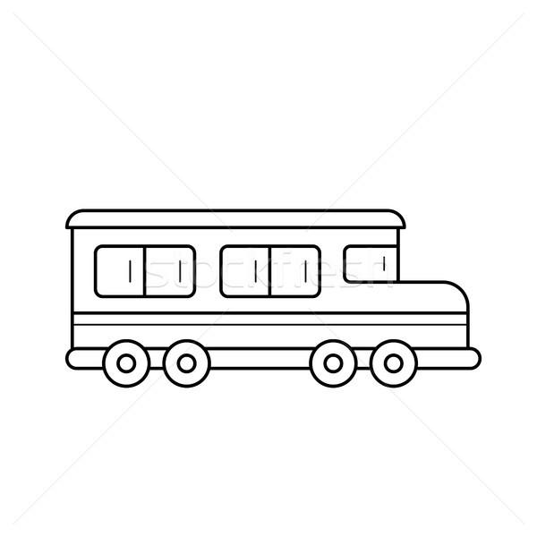 School bus vector line icon. Stock photo © RAStudio