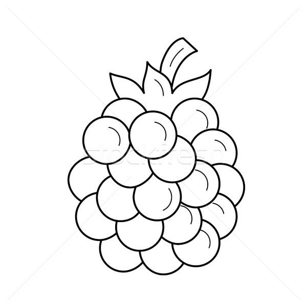 BlackBerry vector lijn icon geïsoleerd witte Stockfoto © RAStudio
