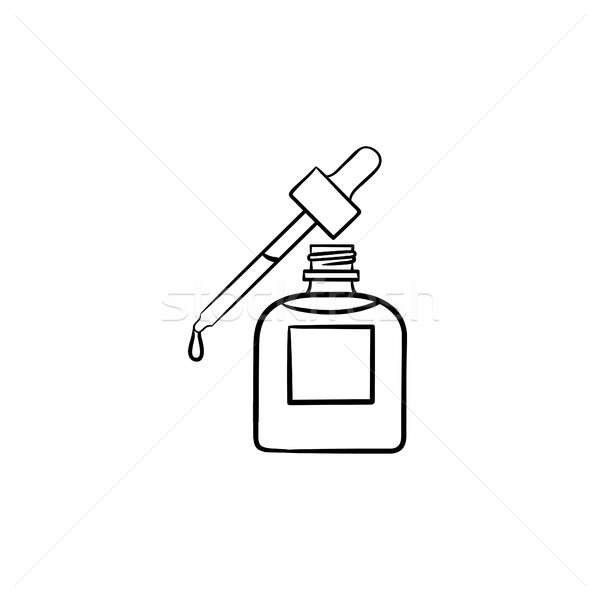 Essential oil and pipette hand drawn sketch icon. Stock photo © RAStudio