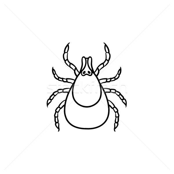 Szkic ikona gryzmolić owadów Zdjęcia stock © RAStudio