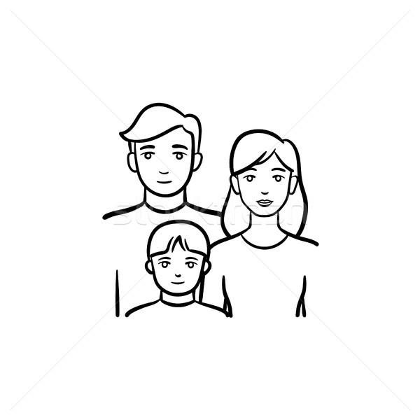 Family members hand drawn sketch icon. Stock photo © RAStudio