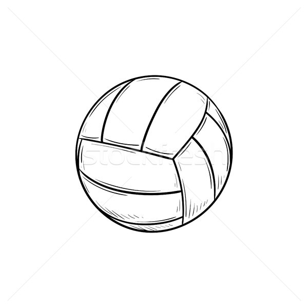Volleybal bal schets doodle icon Stockfoto © RAStudio