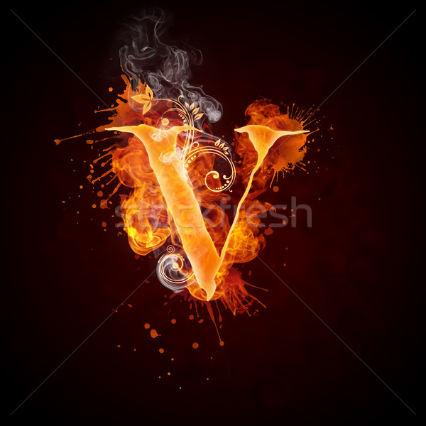 Fire swirl letter v stock photo andrei krauchuk rastudio add to lightbox download comp altavistaventures Choice Image